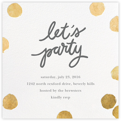 Big Dot Party - Gold - Sugar Paper - Sugar Paper Invitations