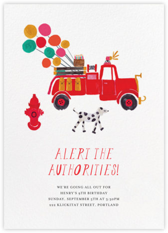 Put the Candles Out - Mr. Boddington's Studio - Online Kids' Birthday Invitations