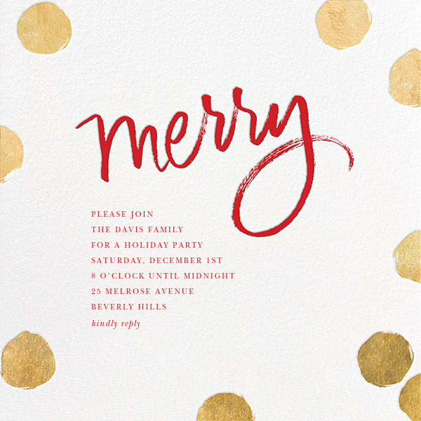 Big Dot Merriment - Gold - Sugar Paper - Invitations
