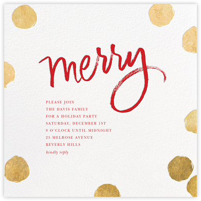 Big Dot Merriment - Gold - Sugar Paper - Christmas invitations