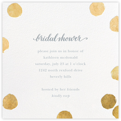 Big Dot Bridal - Gold - Sugar Paper - Bridal shower invitations
