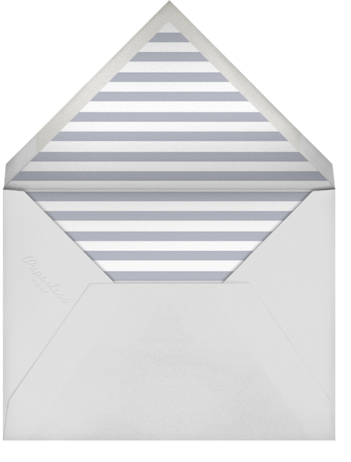 Luminous Heart - White/Gold - Sugar Paper - Baby shower - envelope back