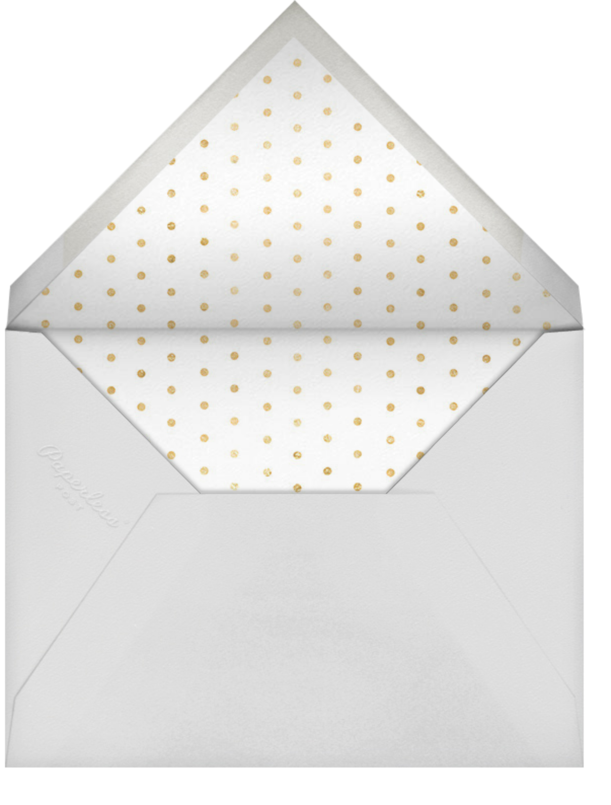 Ever After - White/Gold - Sugar Paper - Bridal shower - envelope back