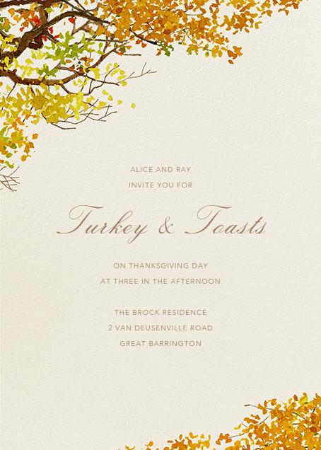 Autumn Boughs - Felix Doolittle - Thanksgiving invitations