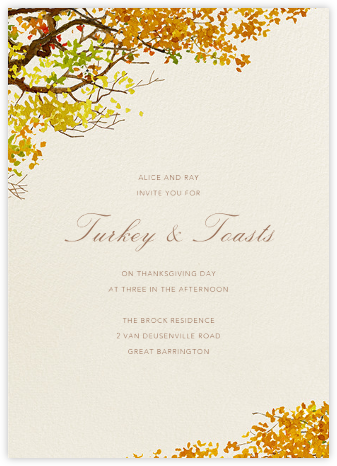 Autumn Boughs - Felix Doolittle - Online Party Invitations