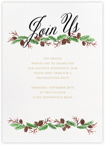 Pine Soiree - Black - Paper + Cup - Paper + Cup Invitations