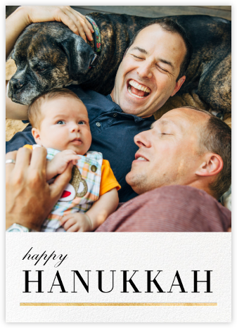 Underscore - Gold - Paperless Post - Hanukkah photo cards