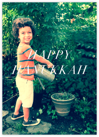 Full-Page Photo Ivory (Double-Sided) - Tall - Paperless Post - Hanukkah Cards