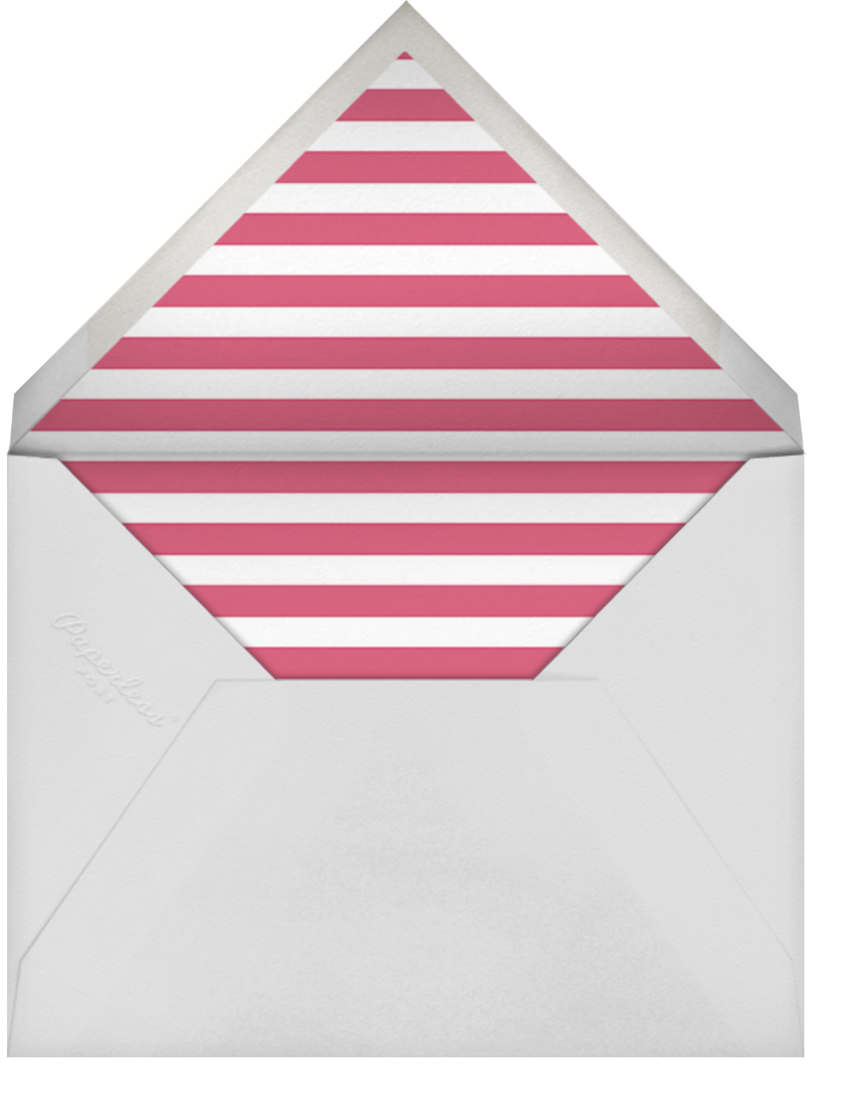 Put on Your Party Hat - Rhubarb - Sugar Paper - Kids' birthday - envelope back