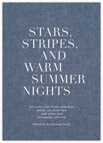Summer Denim - Sugar Paper - Summer entertaining invitations