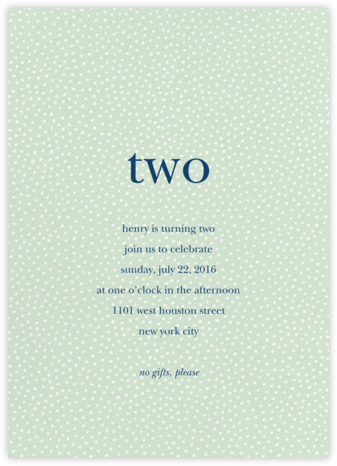Party Flurry - Mint - Sugar Paper - First Birthday Invitations