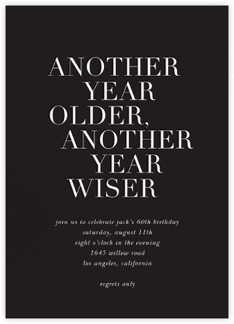 Older and Wiser - Black - Sugar Paper -