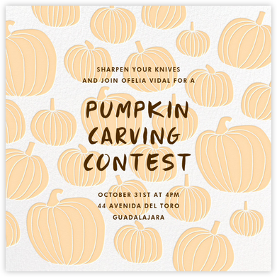 Pumpkin - Linda and Harriett - Autumn entertaining invitations