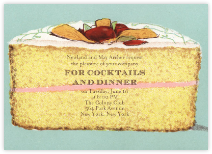 Cake - John Derian - Dinner party invitations