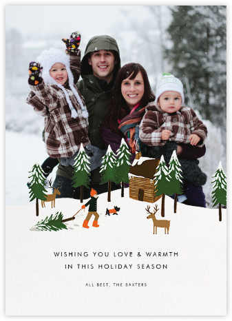 Big Bark Hunter (Square Photo) - Rifle Paper Co. - Holiday cards