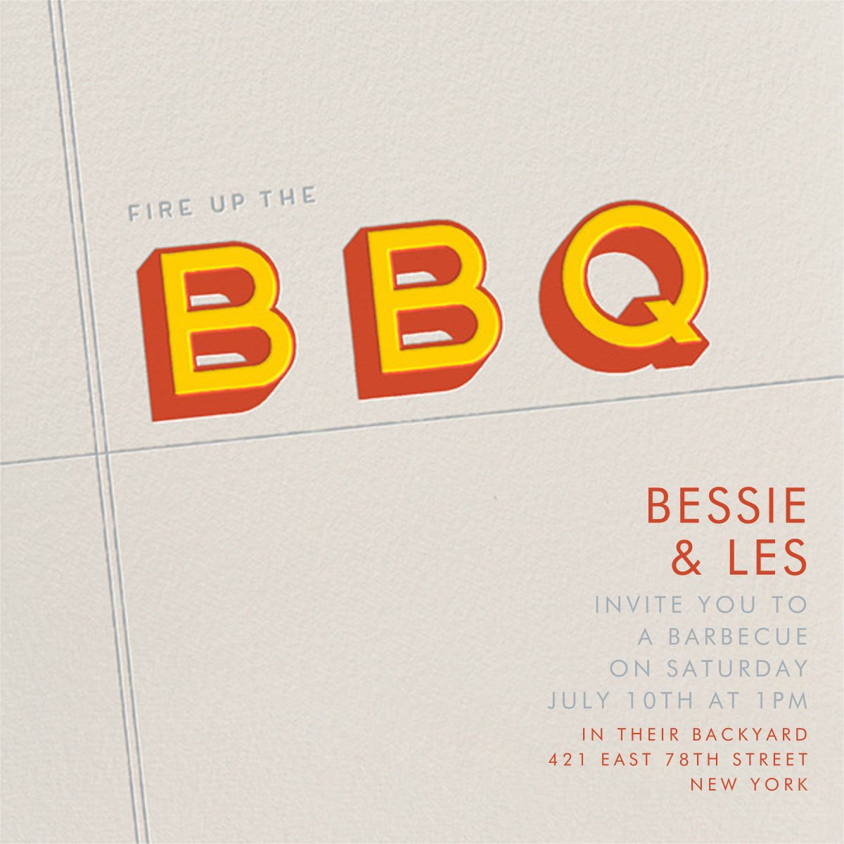 Fire up the BBQ - Paperless Post -