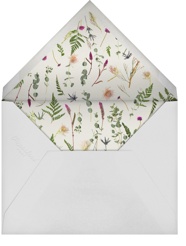 Fleurs Sauvages - Paperless Post - Adult birthday - envelope back