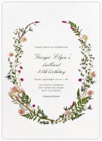 Fleurs Sauvages - Paperless Post - Adult Birthday Invitations