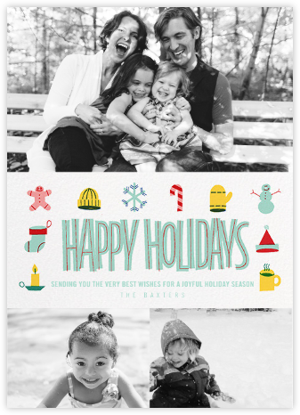 Holiday Souvenirs (Multi-Photo) - Paperless Post - Holiday Cards