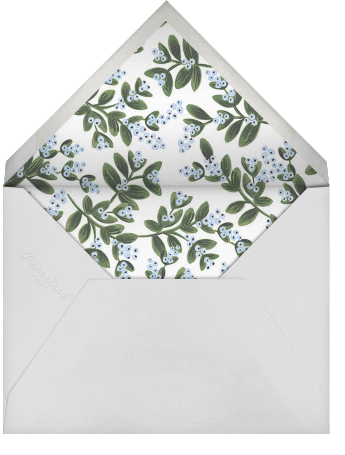 Mistletoe Accent Flourish - Flame - Rifle Paper Co. - Winter entertaining - envelope back