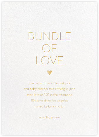 Bundle of Love - Sugar Paper - Celebration invitations