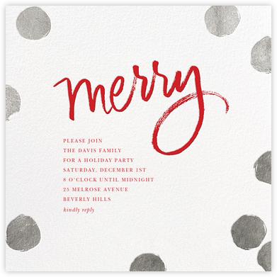 Big Dot Merriment - Silver - Sugar Paper - Holiday invitations
