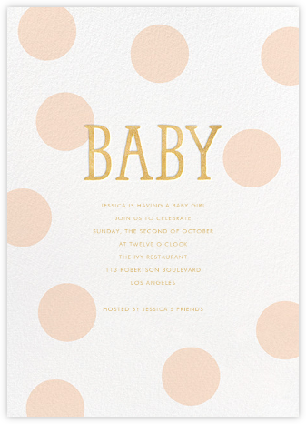 Bubble Baby - Pink - Sugar Paper - Baby Shower Invitations
