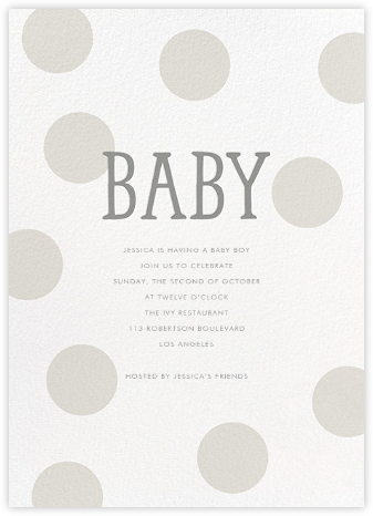 Bubble Baby - Gray - Sugar Paper - Baby Shower Invitations