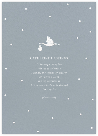 Here Comes the Stork - Pacific - Sugar Paper - Celebration invitations