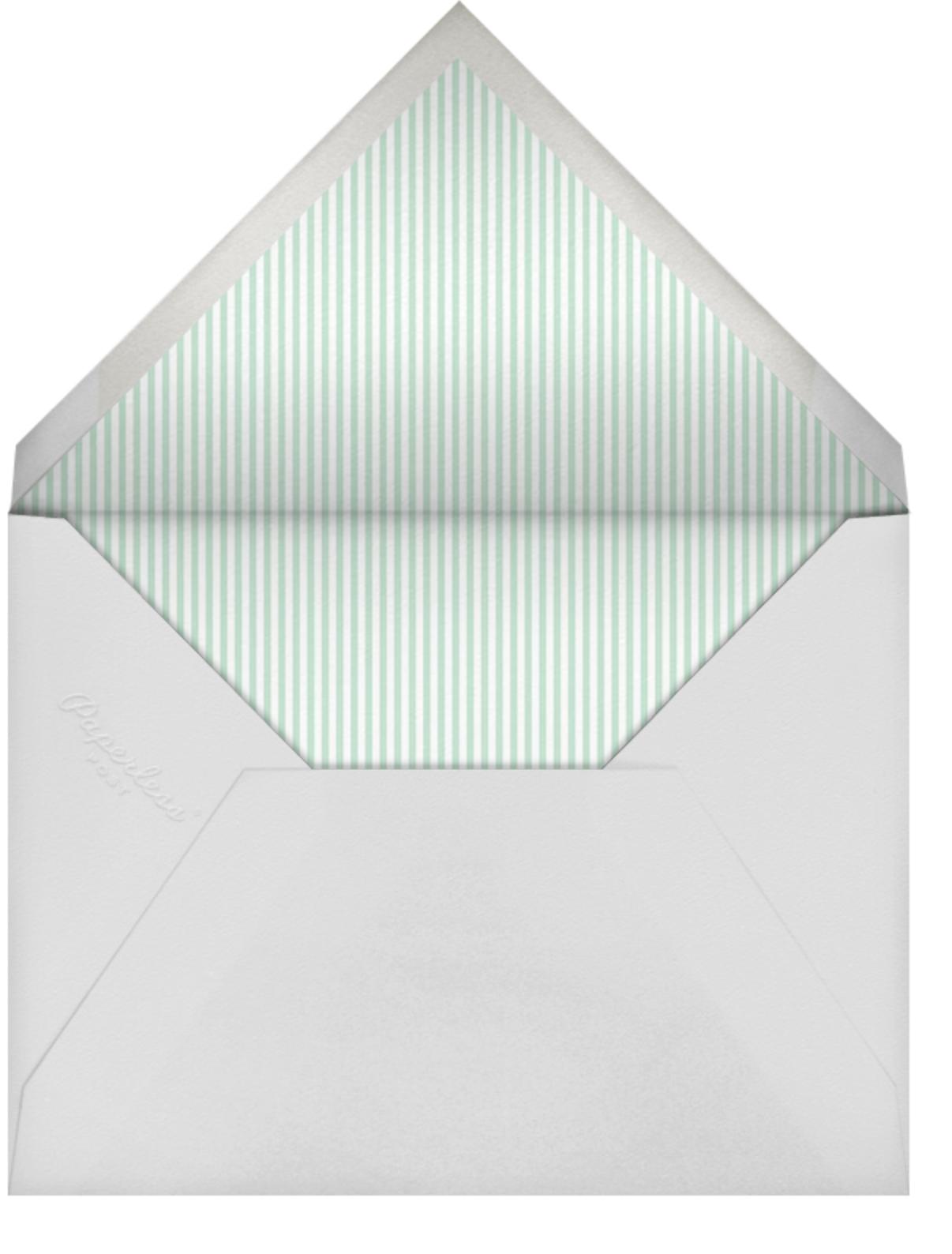 Here Comes the Stork - Gray - Sugar Paper - Baby shower - envelope back