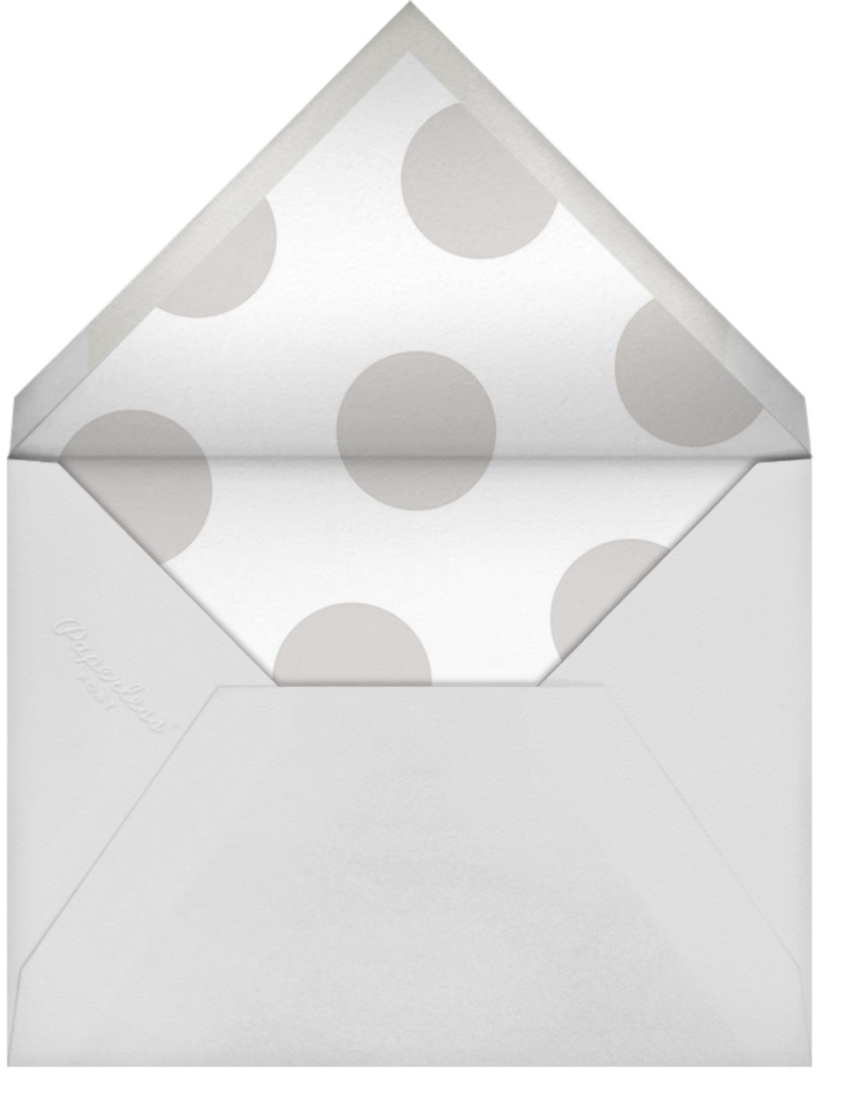 Broad Stripes - Gray - Sugar Paper - Envelope