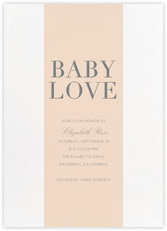 Baby Stripe - Pink - Sugar Paper - Baby Shower Invitations