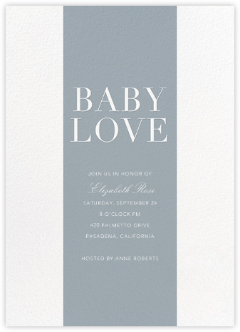 Baby Stripe - Pacific - Sugar Paper - Baby Shower Invitations