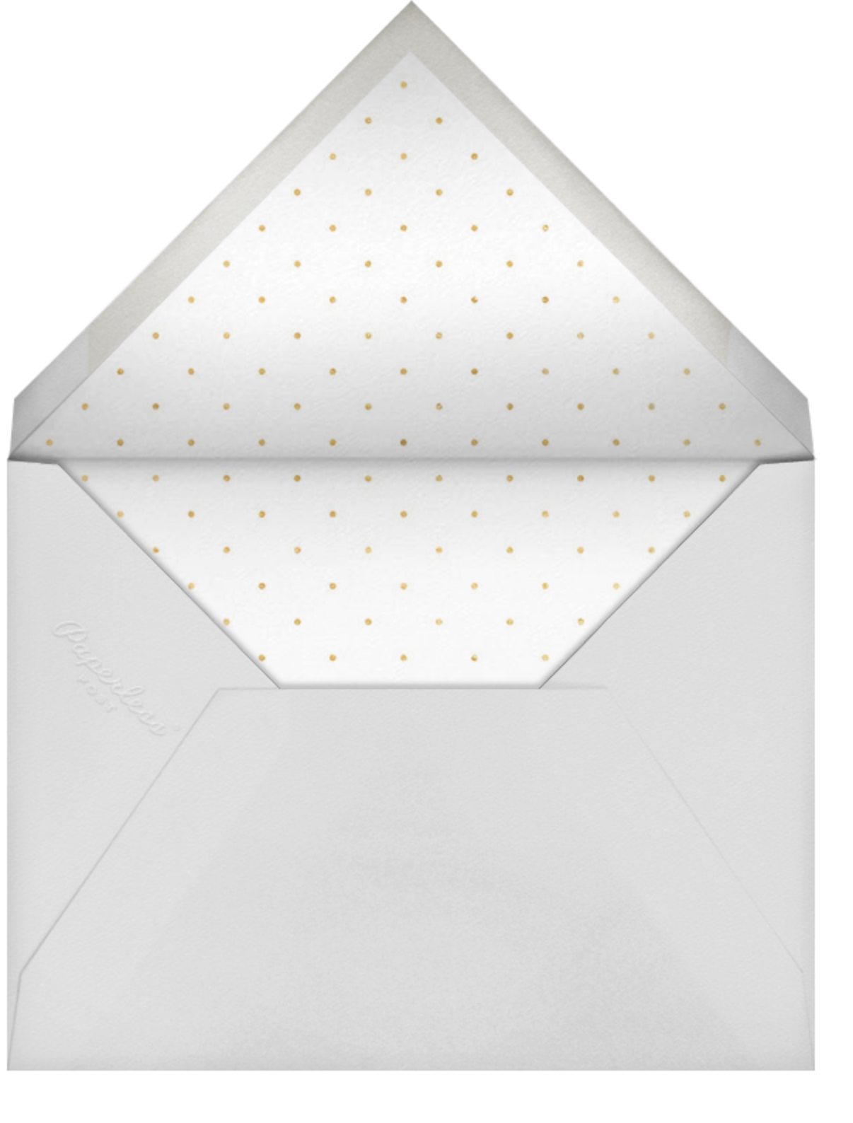 Bridal Stripe - Gray - Sugar Paper - Bridal shower - envelope back