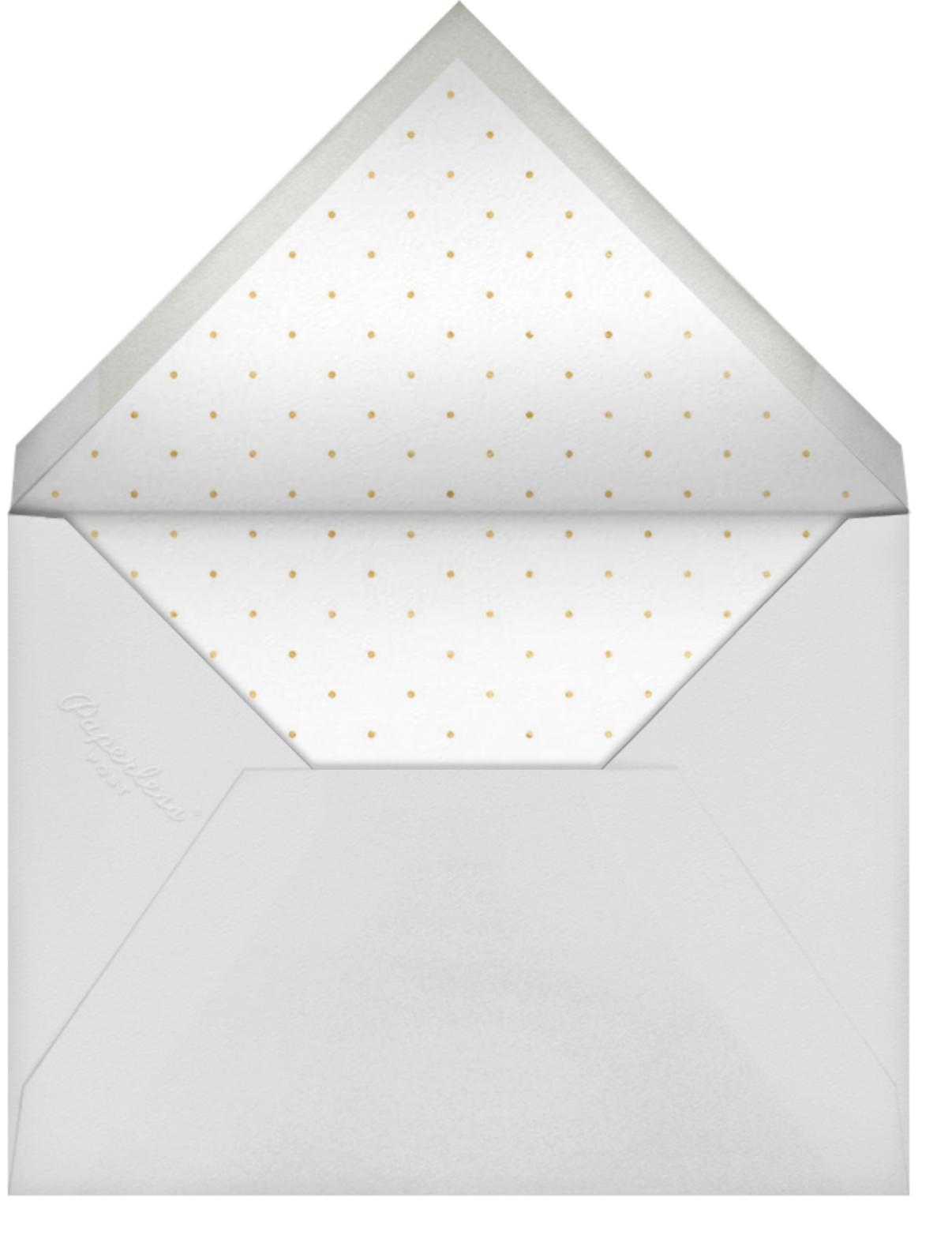 Bridal Stripe - Pink - Sugar Paper - Bridal shower - envelope back