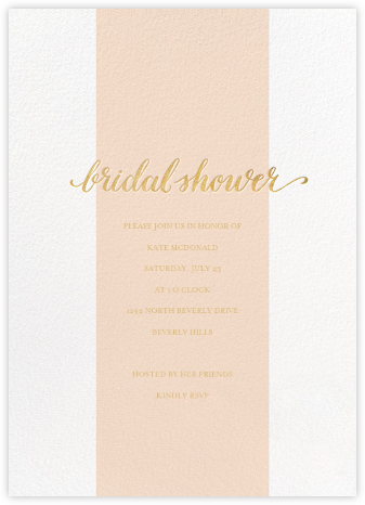 Bridal Stripe - Pink - Sugar Paper - Bridal shower invitations