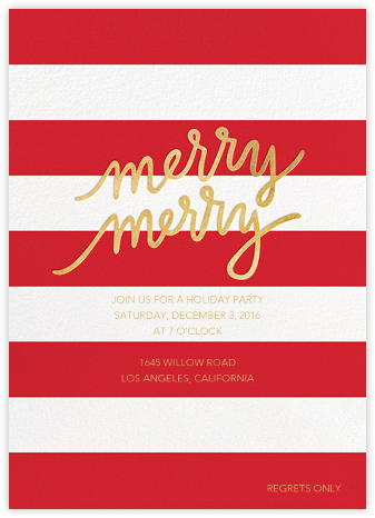 Twice as Merry - Sugar Paper - Holiday party invitations