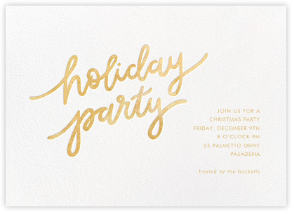 Holiday Script - White/Gold - Sugar Paper -