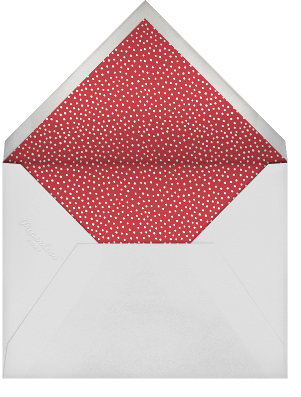 Holiday Script - Red/White - Sugar Paper - Christmas party - envelope back