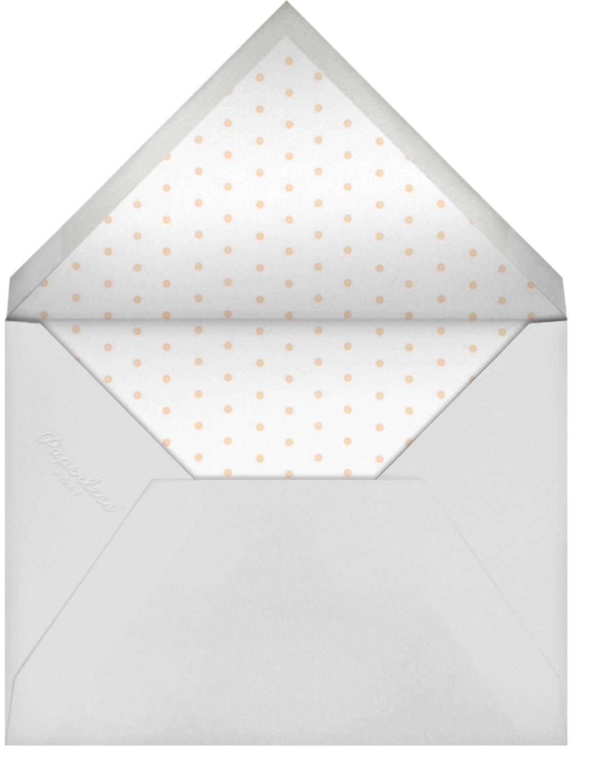 Slim Stripes - Pink - Sugar Paper - Baby shower - envelope back