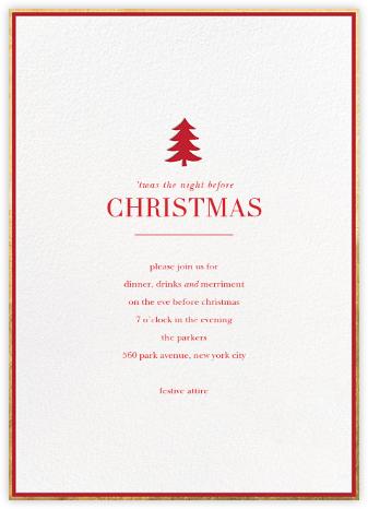 Pine Emblem - Sugar Paper - Christmas invitations