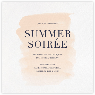 Basic Brushstroke - Bellini - Sugar Paper - Online Party Invitations