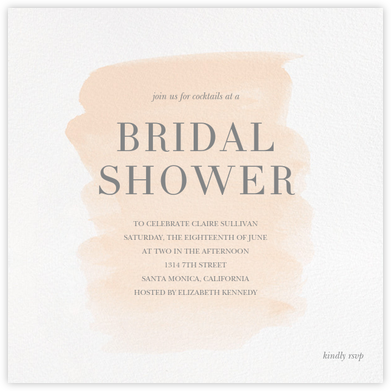 Basic Brushstroke - Bellini - Sugar Paper - Bridal shower invitations