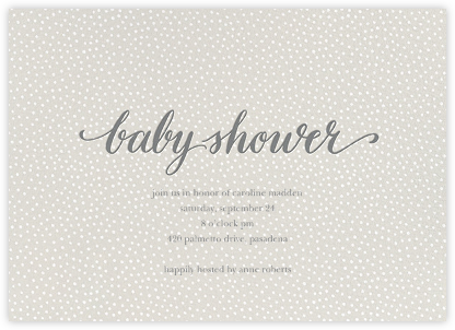Baby Flurry - Gray - Sugar Paper - Sugar Paper Invitations