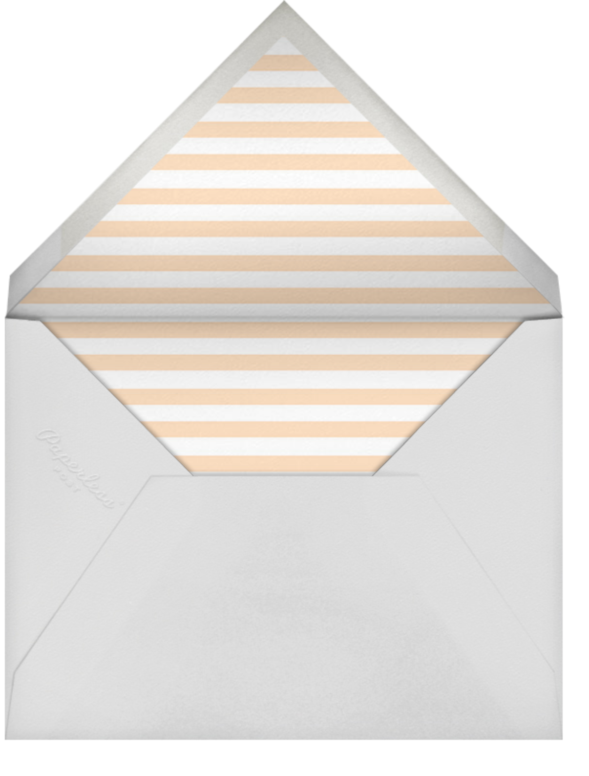 Baby Flurry - Pink - Sugar Paper - Baby shower - envelope back