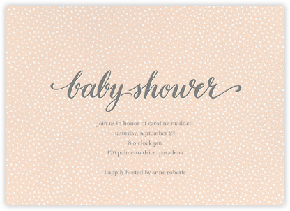 Baby Flurry - Pink - Sugar Paper - Celebration invitations