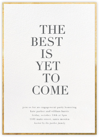 Simply the Best - Sugar Paper - Engagement party invitations