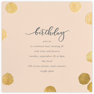 Big Dot Birthday - Pink/Gold - Sugar Paper - Birthday invitations
