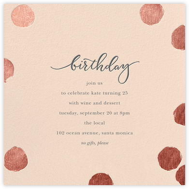 Big Dot Birthday - Pink/Rose Gold - Sugar Paper - Adult Birthday Invitations