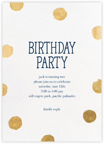 Big Dot Birthday (Tall) - White - Sugar Paper -